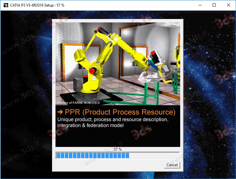 آموزش نحوه نصب CATIA P3 V5-6R2016 و کرک (لایسنس) کتیا