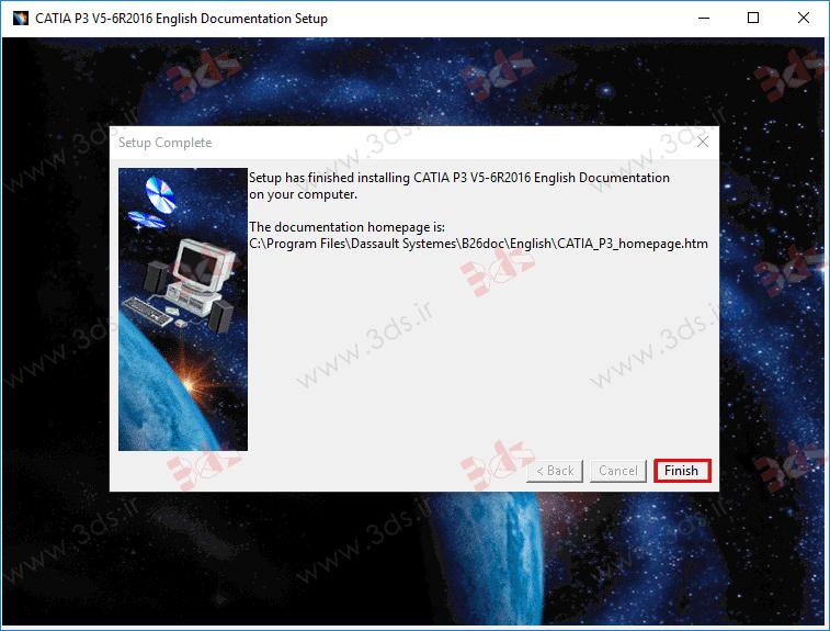 نصب help کتیا (catia Documentation)