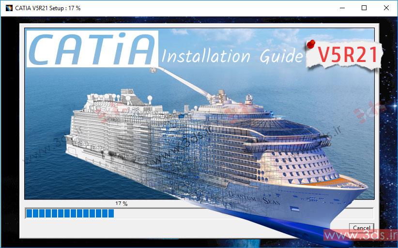 آموزش نصب نرمافزار CATIA V5R21 روی ویندوز 10، 8.1 و 7 + لایسنس