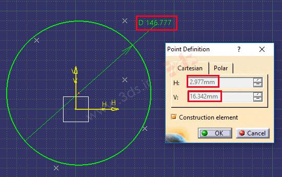 ترسیم بهترین دایره گذرنده از چند نقطه با استفاده از نرمافزار کتیا
