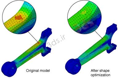 بهینهسازی شکل یا Shape optimization در آباکوس